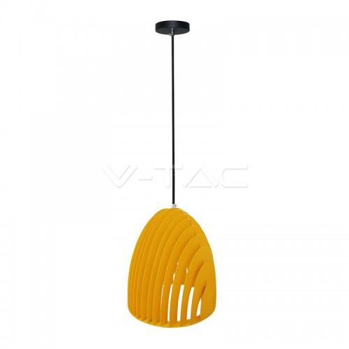 Pendant Light Cone Prism Yellow