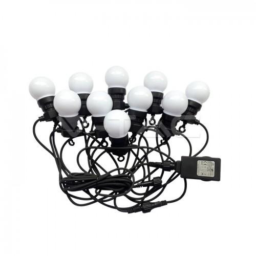 LED String Light 5m. 10 x 0.5W EU Bulbs 6000K