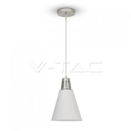 Modern Pendant Light Chrome Sand White