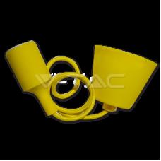 E27 Pendant Holder Yellow