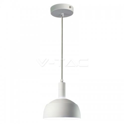 Plastic Pendant Lamp Holder E14 Slide Aluminium Shade White