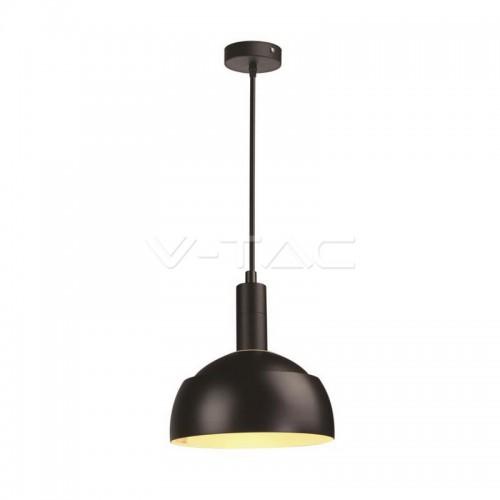 Plastic Pendant Lamp Holder E14 Slide Aluminium Shade Black