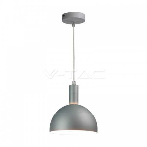 Plastic Pendant Lamp Holder E14 Slide Aluminium Shade Grey
