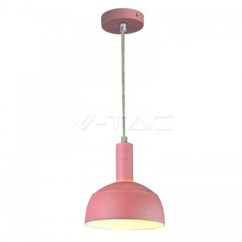 Plastic Pendant Lamp Holder E14 Slide Aluminium Shade Pink