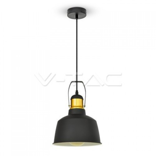 Aluminium Shade Pendant Light Black