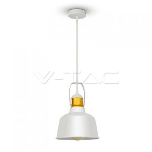 Aluminium Shade Pendant Light White
