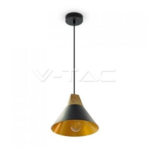Modern Black Wooden Top Pendant Ф260