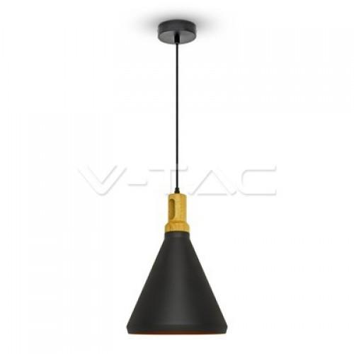 Modern Black Wooden Top Pendant Ф250