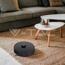 Vacuum Cleaner Auto Charging Gyro Robotic Laser Compatible With Amazon Alexa And Google Home Black