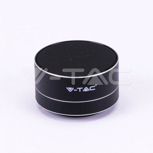 Metal Bluetooth Speaker With Mic & TF Card Slot 400mah Battery Black