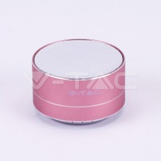 Metal Bluetooth Speaker With Mic & TF Card Slot 400mah Battery Rose Gold