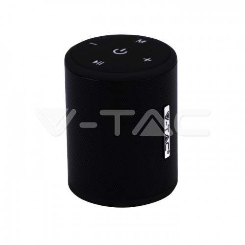 Portable Bluetooth Speaker With Micro USB And High End Cable 1500mah Battery Black