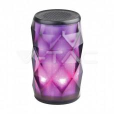 Led Light Portable Bluetooth Speaker With AUX & TF Slot TWS 1200mah Battery