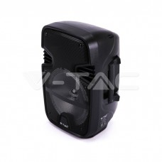 15W Rechargeable Trolley Speaker With One Wired Microphone RF Control RGB 8 inch