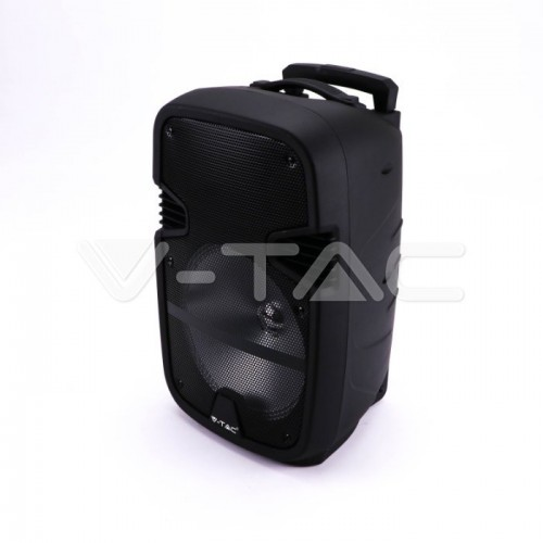 35W Rechargeable Trolley Speaker With One Wired Microphone RF Control RGB 12 inch