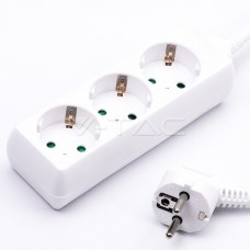 3 Ways Socket (3G 1.5MM2 X 3M) Polybag With Card White