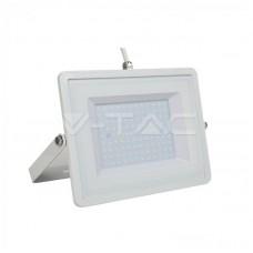 100W LED Floodlight White Body SMD 6400K White Cable