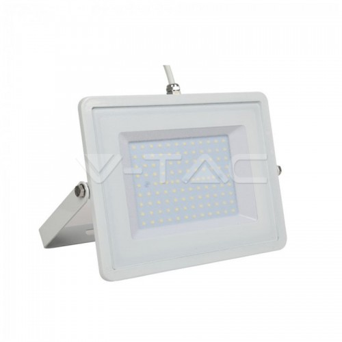 100W LED Floodlight White Body SMD 6400K White Cable