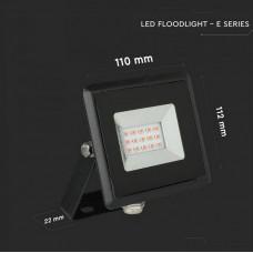 10W LED Floodlight SMD E-Series Black Body Red IP65