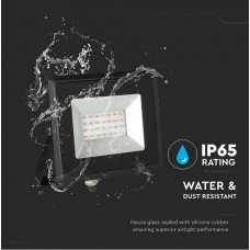 20W LED Floodlight SMD E-Series Black Body Red IP65
