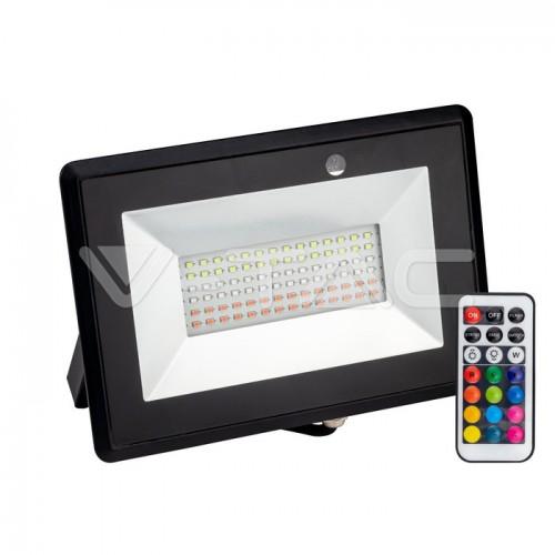 50W LED Floodlight With Remote Control RGB IP66