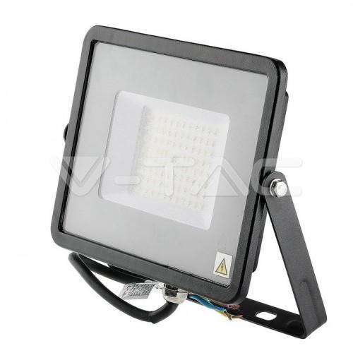 50W LED Floodlight SMD SAMSUNG CHIP SLIM Black Body 6400K 120LM/W