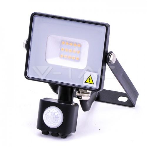 10W LED Sensor Floodlight SAMSUNG CHIP Cut-OFF Function Black Body 3000K