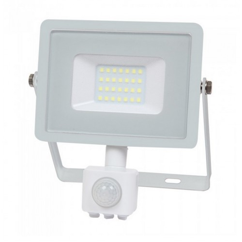 20W LED Sensor Floodlight SAMSUNG CHIP Cut-OFF Function White Body 4000K