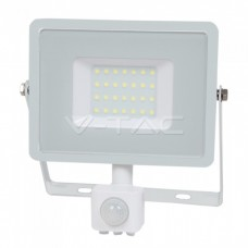 30W LED Sensor Floodlight SAMSUNG CHIP Cut-OFF Function White Body 6400K