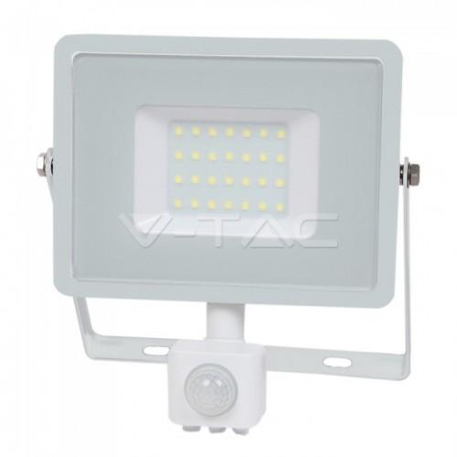 30W LED Sensor Floodlight SAMSUNG CHIP Cut-OFF Function White Body 6400K