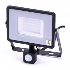30W LED Sensor Floodlight SAMSUNG CHIP Cut-OFF Function Black Body 3000K
