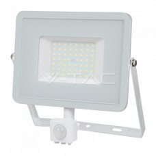 50W LED Sensor Floodlight SAMSUNG CHIP Cut-OFF Function White Body 4000K
