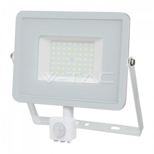 50W LED Sensor Floodlight SAMSUNG CHIP Cut-OFF Function White Body 4000K