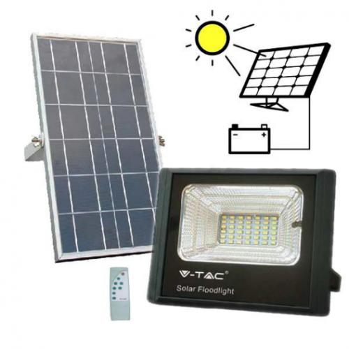 12W LED Solar Floodlight 6000K