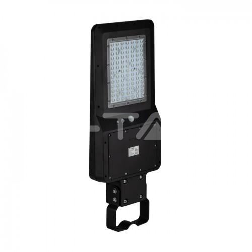 40W LED Solar Street Light Black Body 4000K 120LM/W