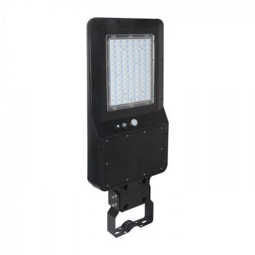 40W LED Solar Street Light Black Body 6000K 120LM/W