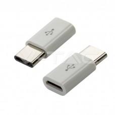 Micro USB To Type C Adaptor White
