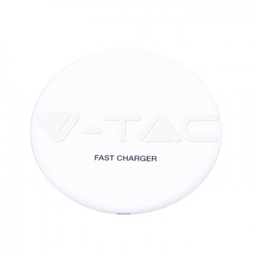 Wireless Charger 5A Fast Charging Round White
