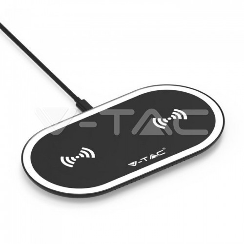 10W Wireless Charging Pad Black + White