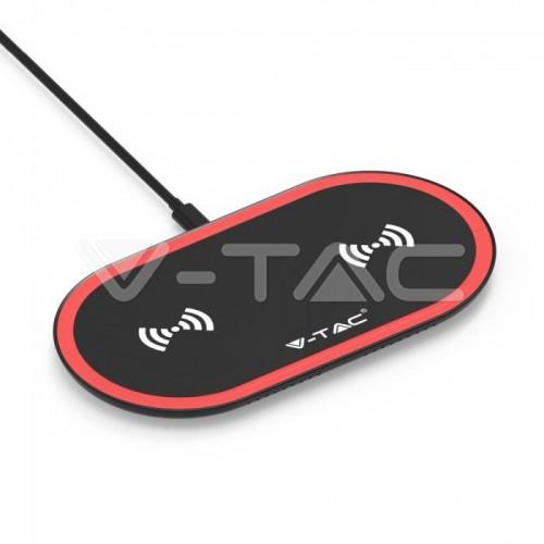10W Wireless Charging Pad Black + Red