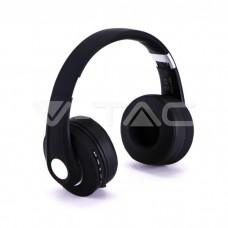 Bluetooth Wireless Headphone Adjustable Head 500mAh Black