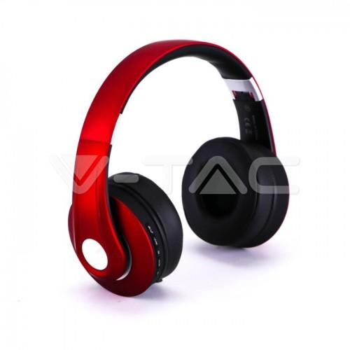 Bluetooth Wireless Headphone Adjustable Head 500mAh Red