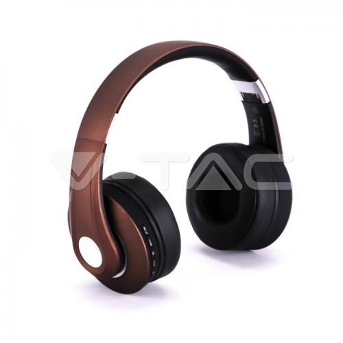 Bluetooth Wireless Headphone Adjustable Head 500mAh Brown