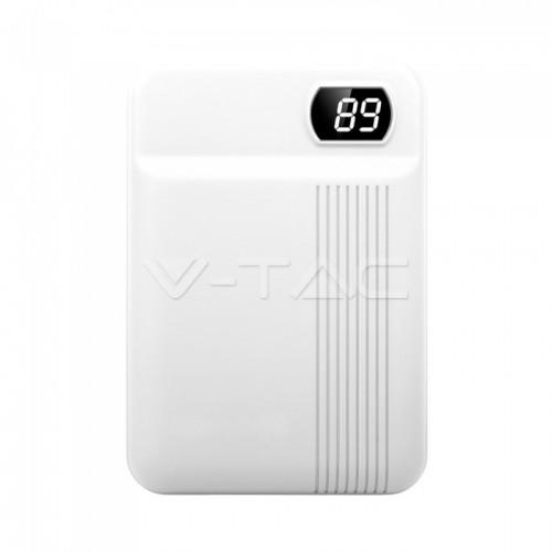 10000mAh Power Bank White