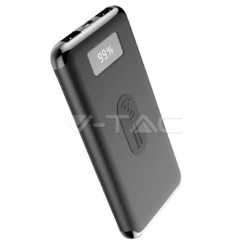 10000mAh Power Bank Display Wireless Charging Black