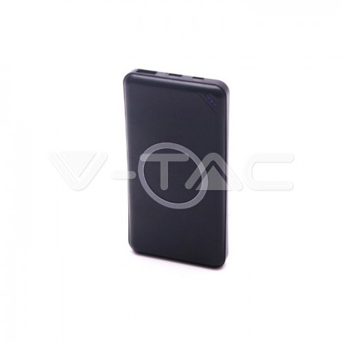 10000 mAh Power Bank Wireless USB Type C Black