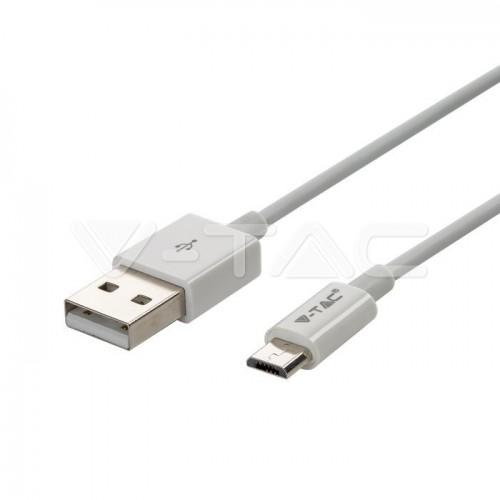1 M Micro USB Cable White - Silver Series